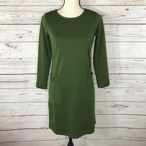 NY Collection Dress Sheath Long Sleeve Stretch